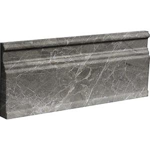 Arctic Gray Polished Modern Base Marble Moldings 12x30,5