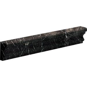 Iris Black Honed Andorra Marble Moldings 5x30,5