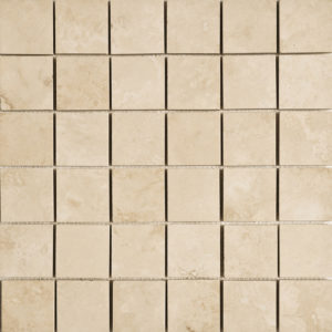 Ivory Honed&filled 5x5 Travertine Mosaics 30,5x30,5