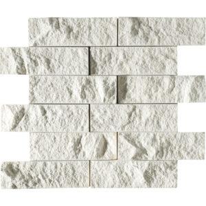 Champagne Rock Face 2x6 Limestone Mosaics 30,5x30,5
