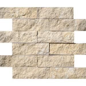 Seashell Rock Face 2x6 Limestone Mosaics 30,5x30,5