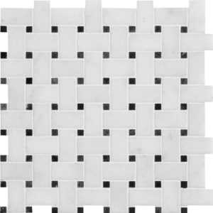 Glacier Honed Basket Weave Marble Mosaics 30,5x30,5