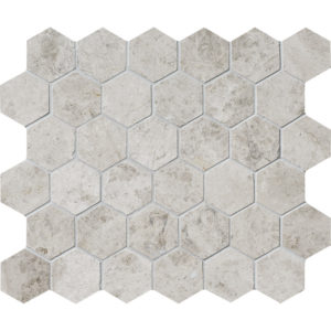 Silver Clouds Polished Hexagon Marble Mosaics 26,5x31