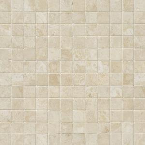 Ivory Honed&filled 1x1 Travertine Mosaics 30,5x30,5