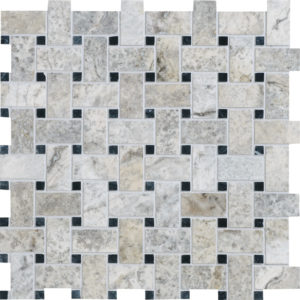 Silverado Honed&filled Basket Weave Travertine Mosaics 30,5x30,5