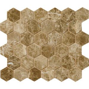 Paradise Polished Hexagon Marble Mosaics 26,5x31