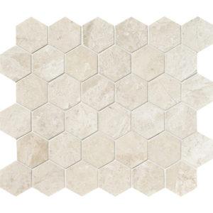 Diana Royal Polished Hexagon Marble Mosaics 26,5x31