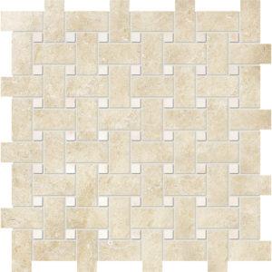 Casablanca&afyon Sugar Honed Basket Weave Limestone Mosaics 30,5x30,5