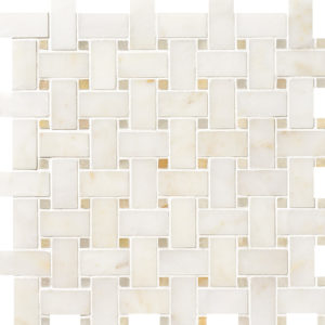 Afyon Sugar&honey Onyx Polished Basket Weave Marble Mosaics 30,5x30,5