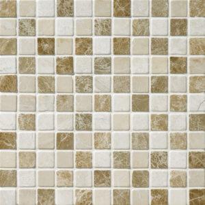 Milano Blend Tumbled 2,3x2,3 Marble Mosaics 30,5x30,5