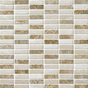 Milano Blend Tumbled 1,5x5 Marble Mosaics 30,5x30,5