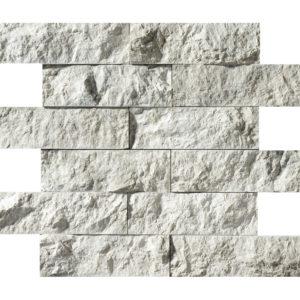 Silver Shadow Rock Face 5x15,2 Marble Mosaics 30,5x30,5