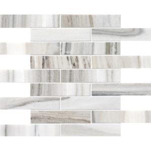 Skyline Polished 1 1/4x6 Marble Mosaics 30,5x30,5
