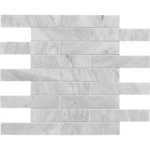 Avenza Honed 1 1/4x6 Marble Mosaics 30,5x30,5