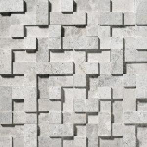 Silver Shadow Honed Random Cubes Marble Mosaics 30,5x30,5