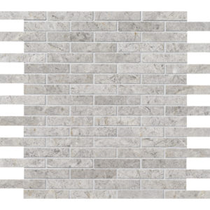 Silver Shadow Honed 1,5x7,6 Marble Mosaics 30,5x30,5