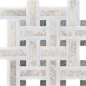 Silver Shadow Honed Lattice Marble Mosaics 30,5x30,5