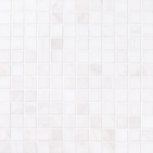 Snow White Polished 2,3x2,3 Marble Mosaics 30,5x30,5