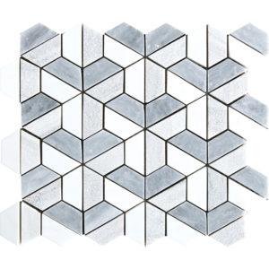 Multicolor Textured 3d Hexagon Marble Mosaics 26,5x31