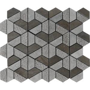 Bosphorus Textured Hexagon Marble Mosaics 26,5x31