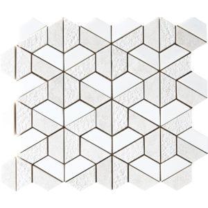 Diana Royal&snow White Textured Hexagon Marble Mosaics 26,5x31