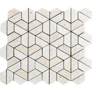 Seashell Textured Hexagon Marble Mosaics 26,5x31