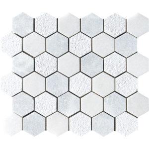 Allure&glacier Textured Hexagon Marble Mosaics 26,5x31