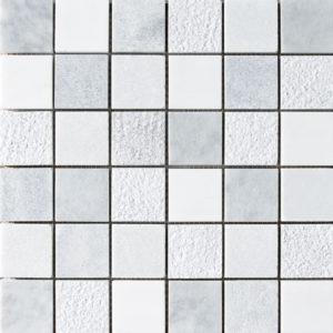 Avenza&snow White&allure Textured 2x2 Marble Mosaics 30,5x30,5