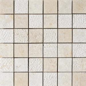 Seashell Textured 5x5 Limestone Mosaics 30,5x30,5