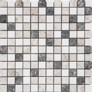 Granada Blend Polished 2,3x2,3 Marble Mosaics 30,5x30,5