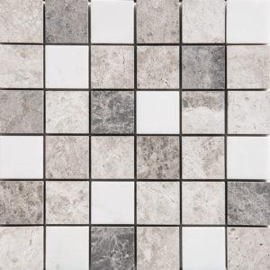 Granada Blend Polished 5x5 Marble Mosaics 30,5x30,5