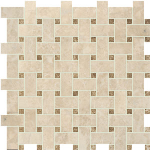 Cappuccino Polished Basket Weave Marble Mosaics 30,5x30,5