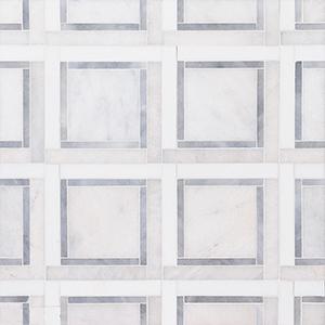 Glacier, Snow White, Allure Multi Finish Cambridge Marble Mosaics 32,7x32,7