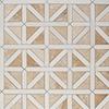 Diana Royal, Snow White Honed Classic Lattice Marble Mosaics 37,5x37,5