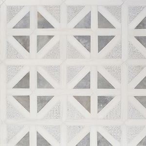 Snow White, Avenza Multi Finish Classic Lattice Marble Mosaics 37,5x37,5
