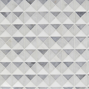 Snow White, Allure, Glacier Multi Finish Devon Marble Mosaics 31,7x31,7