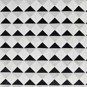 Glacier, Black, Snow White Multi Finish Devon Marble Mosaics 31,7x31,7