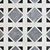 Snow White, Black, Allure Polished Kent Marble Mosaics 34,5x34,5