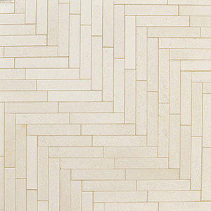 Champagne Honed Large Herringbone Marble Mosaics 32,7x21,8