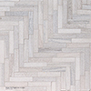 Skyline Full Grain Large Herringbone Marble Mosaics 32,7x21,8