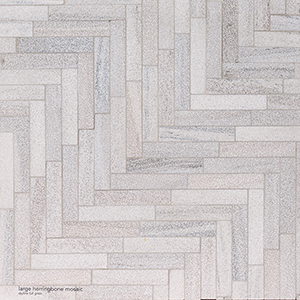 Skyline Full Grain Large Herringbone Marble Mosaics 32,7x21,8