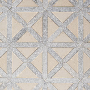 Champagne, Skyline Multi Finish Large Lattice Marble Mosaics 35,2x35,2