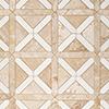 Diana Royal, Snow White Honed Large Lattice Marble Mosaics 35,2x35,2