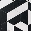 Snow White, Black Honed Mcm Hexagon 8 Marble Mosaics 20