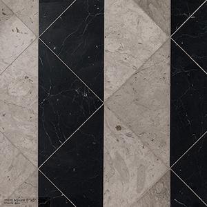 Britannia, Black Honed Mcm Square Marble Mosaics 20x20
