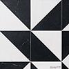 Snow White, Black Honed Mcm Square Marble Mosaics 20x20