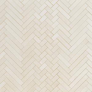 Champagne Honed Mixed Herringbone Marble Mosaics 41,4x30,7