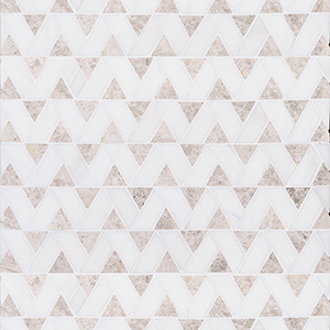 Silver Shadow, Snow White Honed Monte Marble Mosaics 31,5x31,5