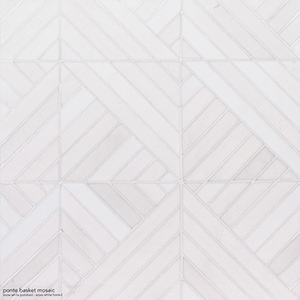 Snow White Multi Finish Ponte Marble Mosaics 36,4x36,4
