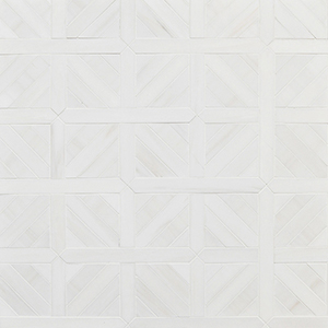 Snow White Multi Finish Ponte Basket Marble Mosaics 37,7x37,7